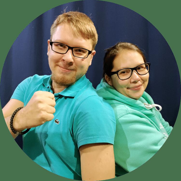 Женя Вологин и Настя Дмитрова